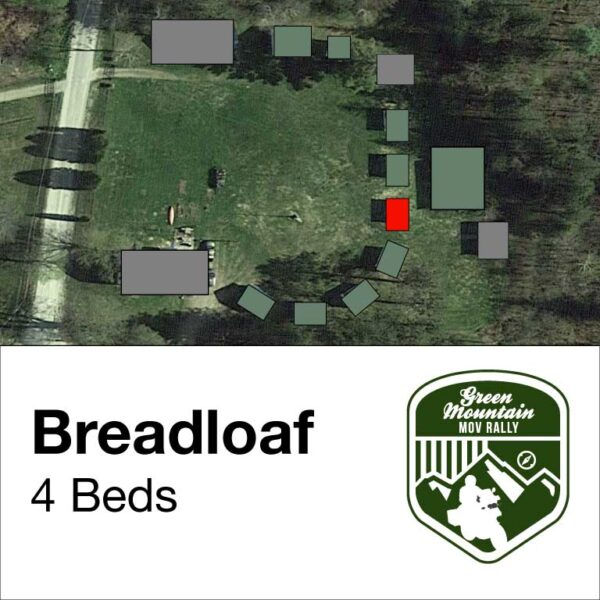 Bread loaf cabin location on map