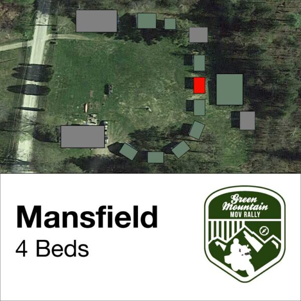 Mansfield cabin location on map