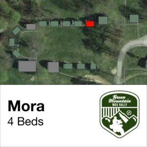 Mora cabin location on map