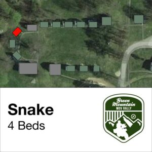 Snake cabin location on map