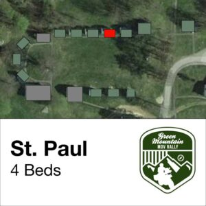 St Paul cabin location on map