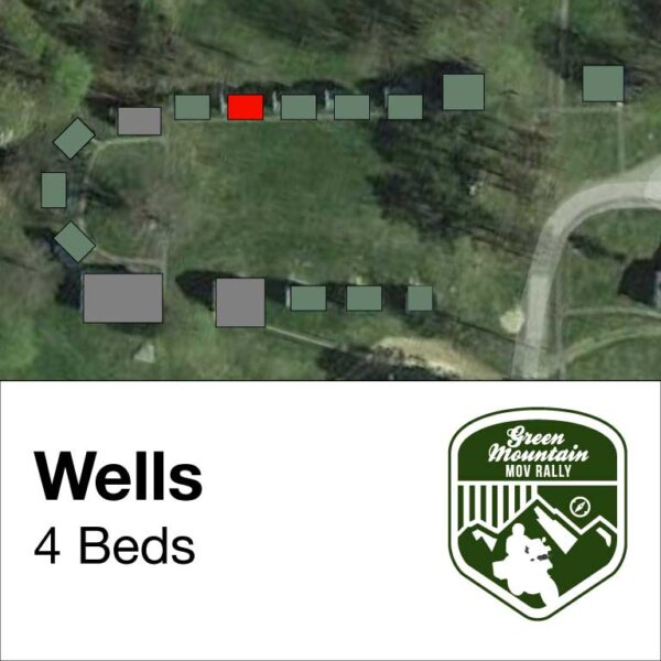 Wells cabin location on map